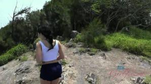 Rina enjoys exploring the island with you.